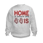 Home Is Where The Two Hearts Sweatshirt