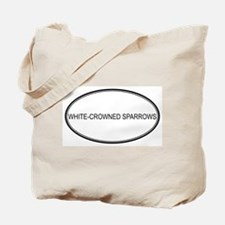 Oval Design: WHITE-CROWNED SP Tote Bag