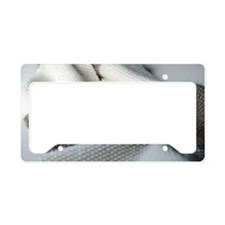 Seed stitch scarf License Plate Holder