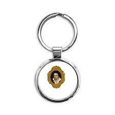 Percy Shelley White Round Keychain