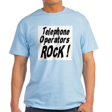 Telephone Operators Rock ! Light T-Shirt