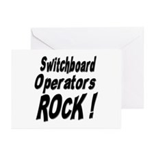 Switchboard Operators Rock ! Greeting Cards (Packa