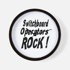 Switchboard Operators Rock ! Wall Clock