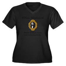 William Word Women's Plus Size Dark V-Neck T-Shirt