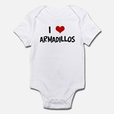 I Love Armadillos Infant Bodysuit