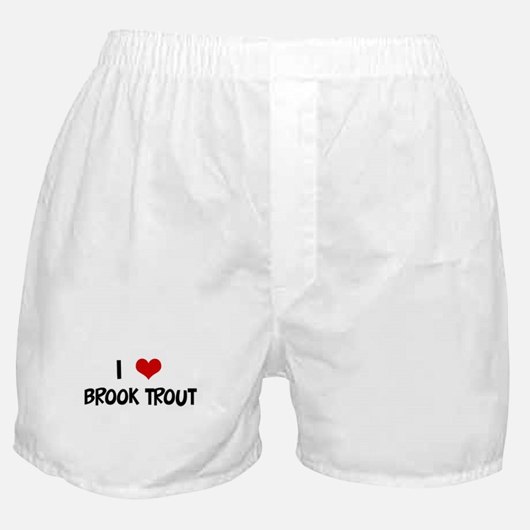 I Love Brook Trout Boxer Shorts