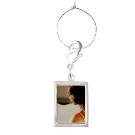 Mother breastfeeding her baby Portrait Wine Charm