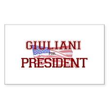 Giuliani for President Rectangle Decal