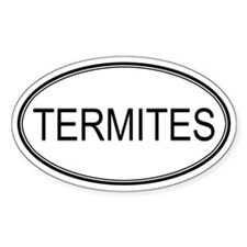 Oval Design: TERMITES Oval Decal