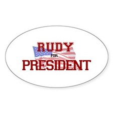 Rudy for President Oval Decal