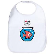 I Love My Fish Bib