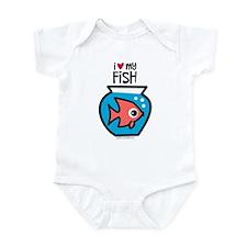 I Love My Fish Infant Bodysuit