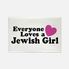 Everyone Loves a Jewish Girl Rectangle Magnet