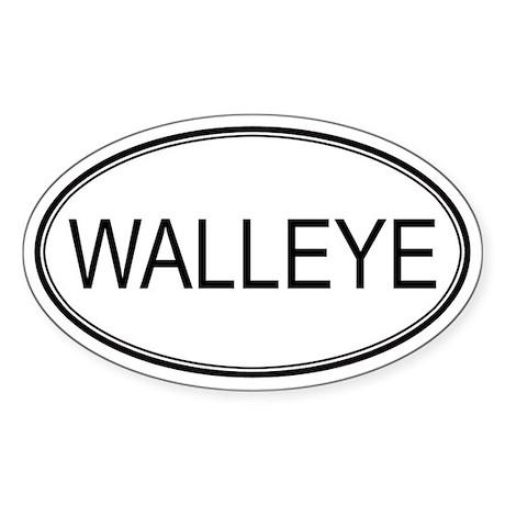 Oval Design: WALLEYE Oval Decal by animalhut