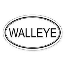 Oval Design: WALLEYE Oval Decal