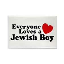 Everyone loves a Jewish Boy Rectangle Magnet