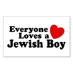 Everyone loves a Jewish Boy Rectangle Decal
