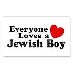 Everyone loves a Jewish Boy Rectangle Sticker