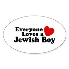 Everyone loves a Jewish Boy Oval Decal