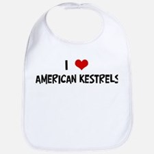 I Love American Kestrels Bib