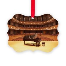 Piano on stage in empty theater Ornament