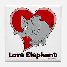 Love Elephant Tile Coaster