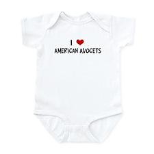 I Love American Avocets Infant Bodysuit