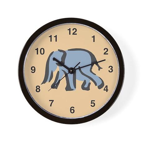 Elephant Wall Clock: Plain Elephant