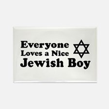 Everyone Loves a Nice Jewish Rectangle Magnet