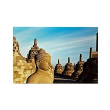 Upper Terrace of Borobudur, Java Rectangle Magnet