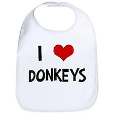 I Love Donkeys Bib