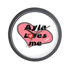 ayla loves me  Wall Clock