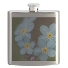 Beautiful blue Forget-me-not Flask