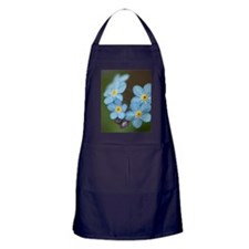 Beautiful blue Forget-me-not Apron (dark)