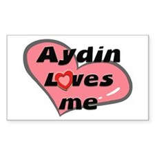 aydin loves me Rectangle Decal
