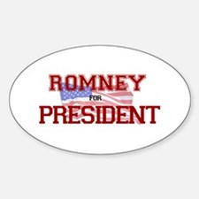 Romney for President Oval Decal