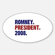 Romney. President. 2008. Oval Decal