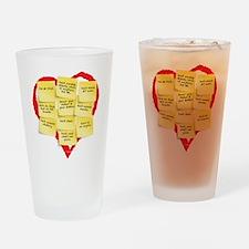 Ten Commandments Drinking Glass