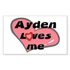 ayden loves me Rectangle Decal