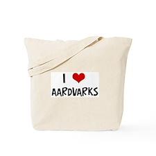 I Love Aardvarks Tote Bag