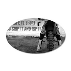 GRIP IT AND RIP IT 35x21 Oval Wall Decal