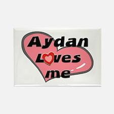 aydan loves me Rectangle Magnet