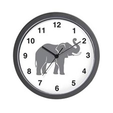 Elephant Wall Clock: Gray Elephant