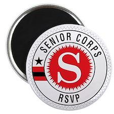 Red Senior Corps RSVP Logo  Magnet