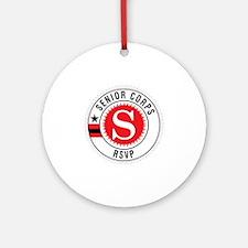 Red Senior Corps RSVP Logo  Round Ornament