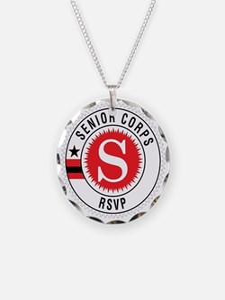 Red Senior Corps RSVP Logo  Necklace