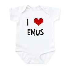 I Love Emus Infant Bodysuit