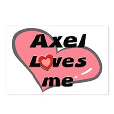 axel loves me  Postcards (Package of 8)