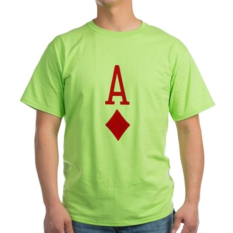 Ace of Diamonds Green T-Shirt
