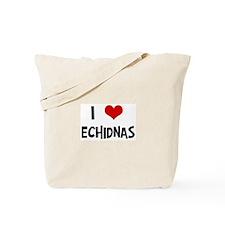 I Love Echidnas Tote Bag